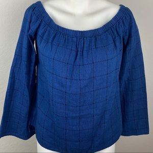 Cloth & Stone Window Pane Off Shoulder Top Small